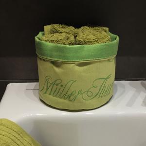 Grüner Korb Dt. Rebsorten - Tücher in grün