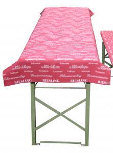 Tischdecke für Biergartengarnitur für Weintrinker weinrot