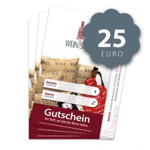 Weinstoff Geschenkgutschein für 25 Euro
