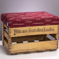 WeinKisten-Hocker weinrot alte Weinkiste