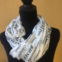 Wein-Schal aus Viskose